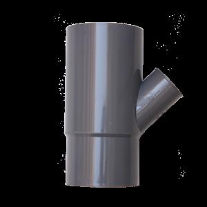 Corredera / manguito doble boca con 1 toma lateral  110X50X45º