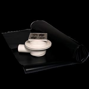 Sumidero ducha con valvula anti-olores y lámina pvc impermeabilizante Solfless OLT