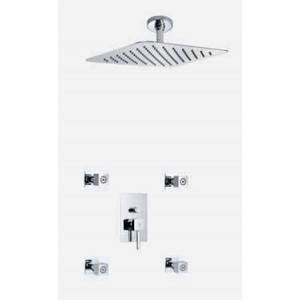 Conjunto ducha empotrada 2 funciones extraplano Mod: Catral MR
