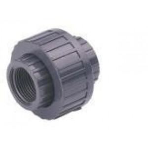"Enlace 3 piezas mixto pvc presión hembra pegar / hembra roscar  D-90mm X 3"""