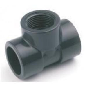 """Te mixta h-h pvc presión pegar / roscar / pegar D:50x1""""1/2mm"""