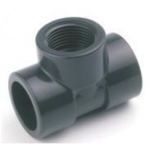 """Te mixta h-h pvc presión pegar / roscar / pegar D:40x1""""1/4mm"""