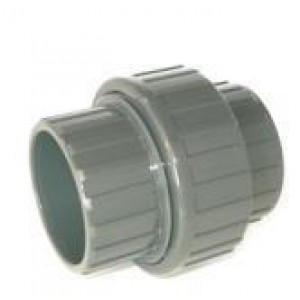 Enlace 3 piezas pvc presión encolar H-H D: 50mm