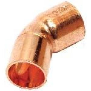 Codo cobre m / h  42x45º
