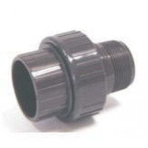 """Enlace 3 piezas mixto pvc presión pegar hembra / roscar macho D:50x1""""1/2mm"""