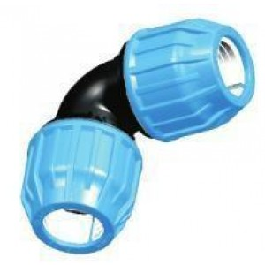 Codo h/h tubo polietileno D:75mm