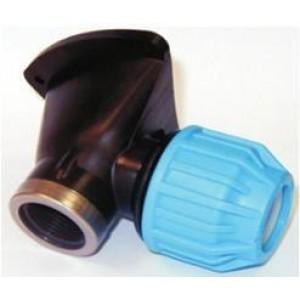 """Codo placa pared mixto para tubo polietileno H-H  D:25x3/4"""""""
