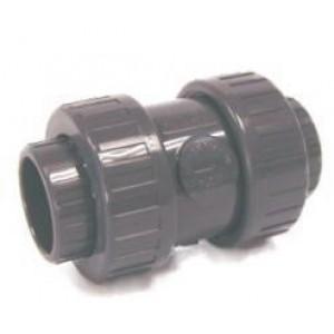 Valvula anti-retorno  presión pvc desmontable h-h  D:25mm