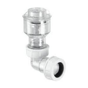 Válvula retención para aparatos de condensación acodada