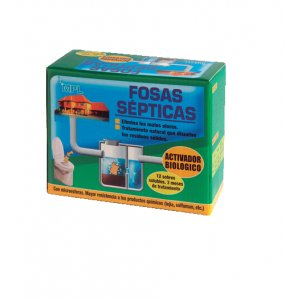 Activador biológico Fosas Sépticas, bolsitas hidrosolubles