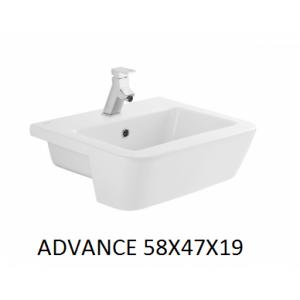 Lavabo Advance semi-encastre  58x47  Unisan