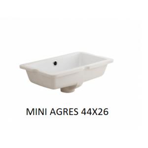 Lavabo mini Agres bajo encimera (440x260) UNISAN