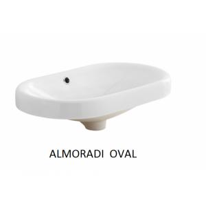 Lavabo sobre encimera Almoradí Oval (600x360X60) UNISAN