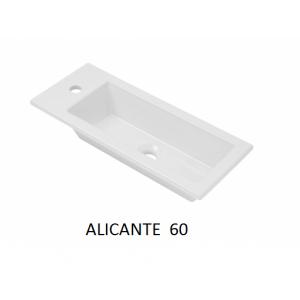 Lavabo sobre encimera Alicante rectangular (600x250x20) UNISAN