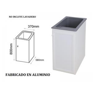 Mueble para lavadero Apolo en aluminio  370 x 580 x 800 mm
