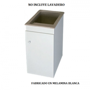 Mueble para lavadero Apolo en melamina 380 x 600 x 800 mm