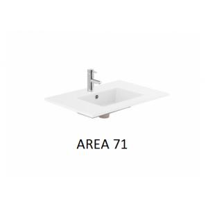 Lavabo sobre encimera Area (710x460X20) UNISAN