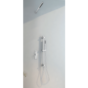 Conjunto ducha empotrado doble función con barra deslizante Aruba