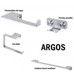 Conjunto accesorio baño Lowcost Argos PYP Inox