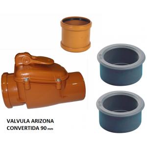Válvula antirretorno, anti-olores, antirroedores Arizona 110 convertida a 90mm