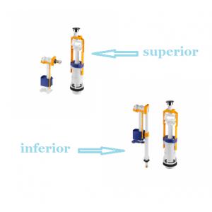 Recambio conjunto mecanismo descarga interrumpible  para cisterna Benissa