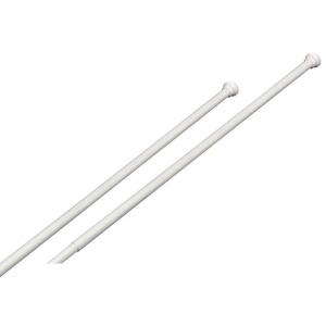 Barra cortina ducha frontal extensible blanca de 120 a 220