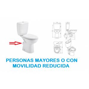 Conjunto inodoro para personas con movilidad reducida serie Benissa Confort