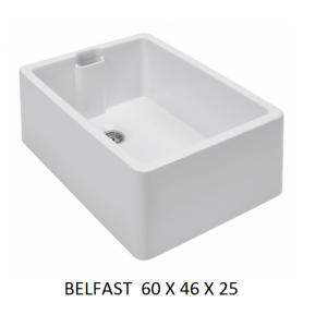 Fregadero cerámico Belfast 60X46  Unisan