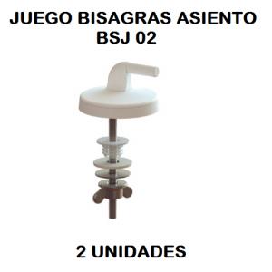 Juego bisagras asiento inodoro  BSJ-02