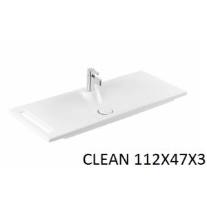 Lavabo integral Clean con toallero 112 Unisan