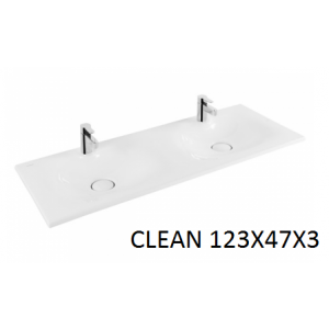 Lavabo integral Clean doble seno  123 Unisan