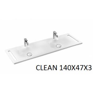 Lavabo integral Clean con doble toallero 140 Unisan