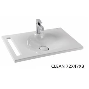 Lavabo integral Clean con toallero 72 Unisan