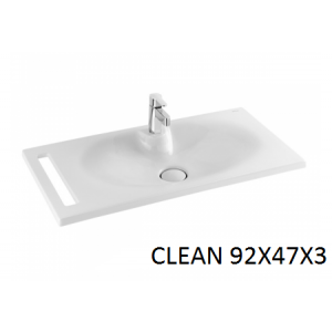 Lavabo integral con toallero Clean 92 Unisan