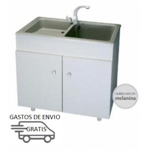 Conjunto mueble de aluminio y lavadero acrilico THOR