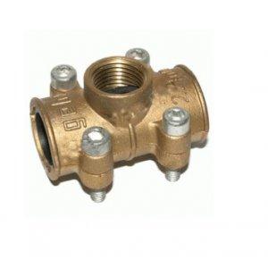 Manguito reparador tapaporos tubo cobre ( Con Toma ) 15 a 28mm