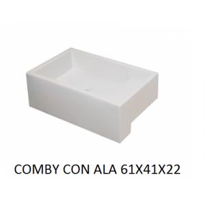 Lavabo Comby sobre mueble (61x41x22) c/ala UNISAN