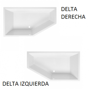 Bañera acrílica rincón Delta (derecha/izquierda) Unisan