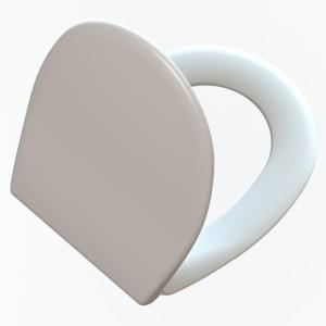 Asiento y tapa inodoro Universal  (sistema CLIPPOFF) Estambul ( Caida amortiguada )