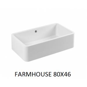 Fregadero cerámico Farmhouse  80x46 Unisan