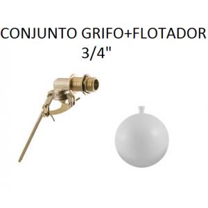 """Grifo flotador guias latón 3/4""""  con boya"""