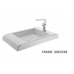 Lavabo sobre encimera Frame (60x35X8) UNISAN