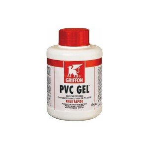 Pegamento PVC gel frasco con brocha 1000 ml.   GRIFFON