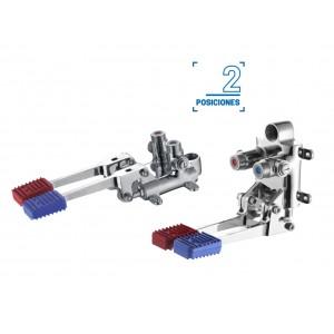 Grifo dos  pedales mezclador Källa Serie Pedal  fria/caliente