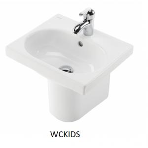 Lavabo infantil con semipedestal 43cm. Wckids Unisan
