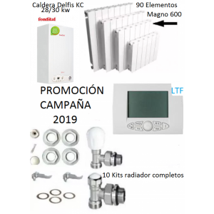 Kit calefacción hogar - Promoción 2019  - 30 kw