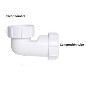 Conector tubo extra-plano ahorro espacio Lewis