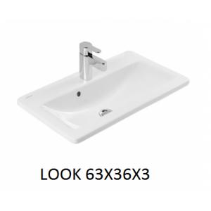Lavabo integral con o sin mueble Look 63x36x3 Unisan