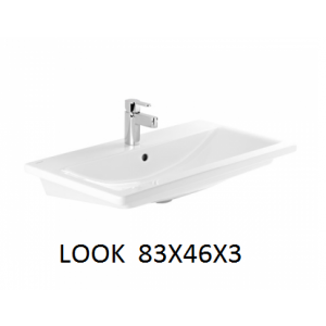 Lavabo integral con o sin mueble Look 83x46x3 Unisan