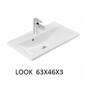 Lavabo integral con o sin mueble Look 63x46x3 Unisan